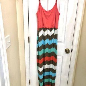 Charlotte Russe Maxi Dress- Size L